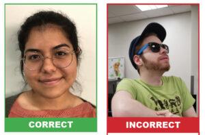 Correct and incorrect ways to upload photos.