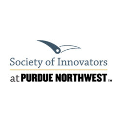 An illustration of a compass above the words Society of Innovators at Purdue Northwest