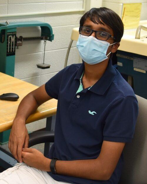 Munster High School senior Rayhan Zaman is pictured.