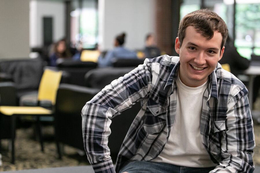 Student Brian Goodman is pictured.