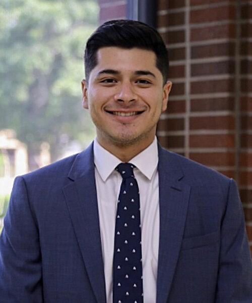 Graduate Samuel Arjona is pictured.