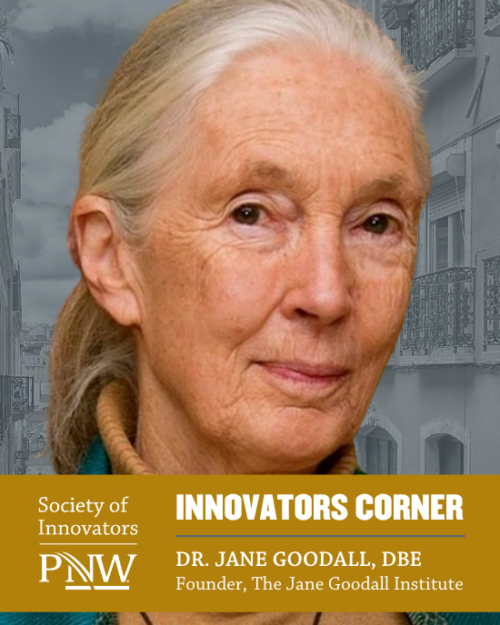 Dr Jane Goodall is picutred.