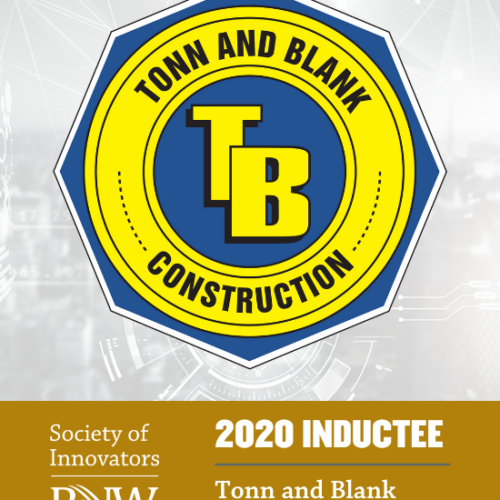 Tonn and Blank Construction logo abut Society of Innovators PNW 2020 Inductee