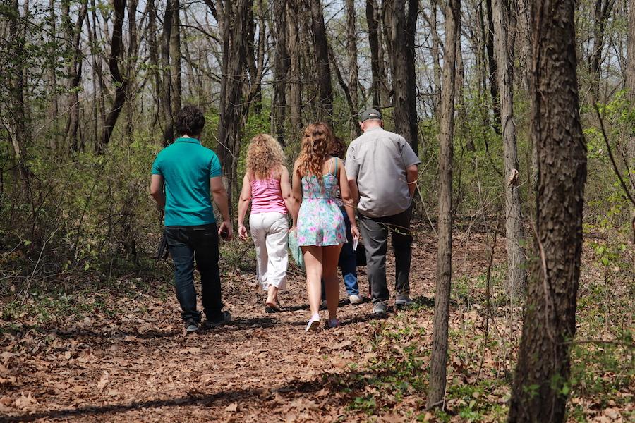 Walking the trails at Gabis.