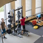 Students work out in DSAC