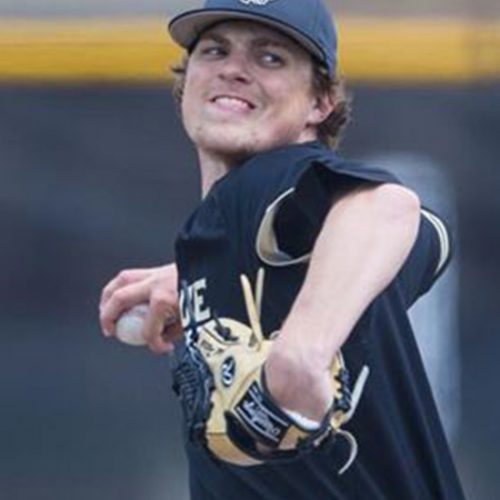 PNW pitcher Chad Patrick throws on the mound