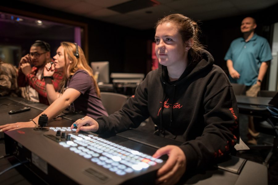 Students work in the PNW production studio