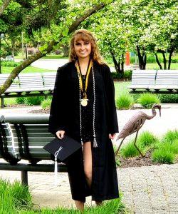 Kayla with medallion