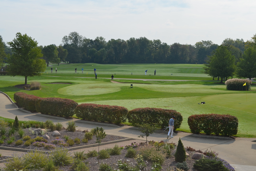 The golf invitational is pictured.