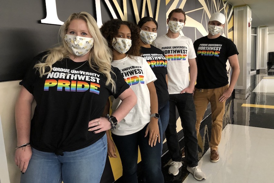 PNW Pride t-shirts are pictured on students.