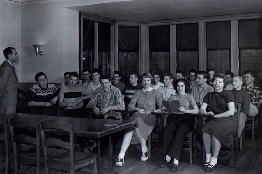Class in Barker Mansion.